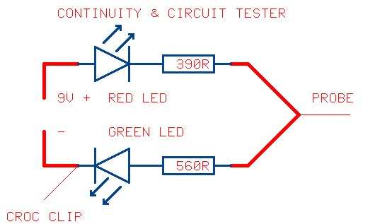 Continuity Tester Circuit : Continuity tester