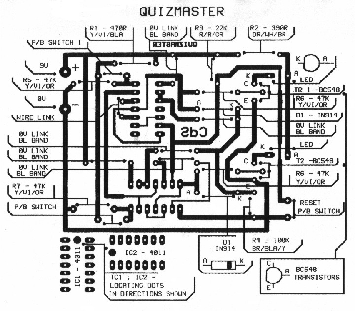 quiz master, wiring diagram